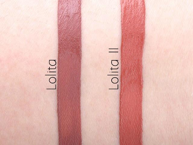 kat von d lolita ii vs lolita swatches