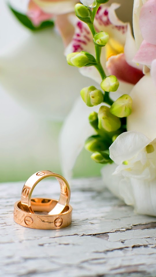 Wedding Rings Flowers Galaxy Note HD Wallpaper