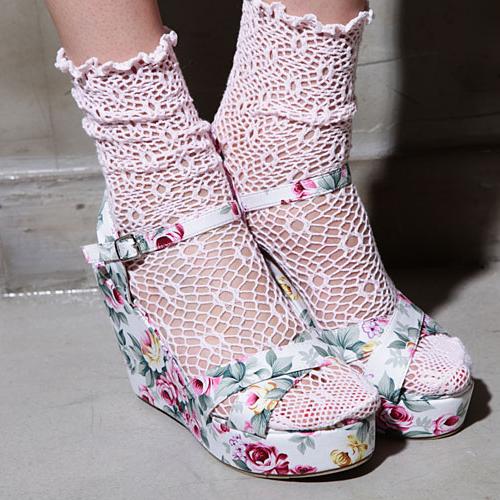 Flower Bomb Wedge Sandals