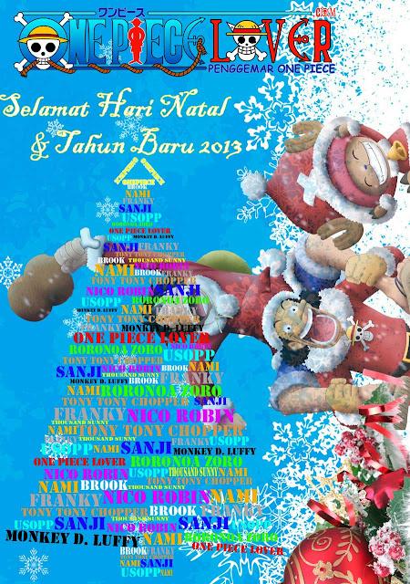 Selamat Natal dan Tahun Baru 2013 One Piece