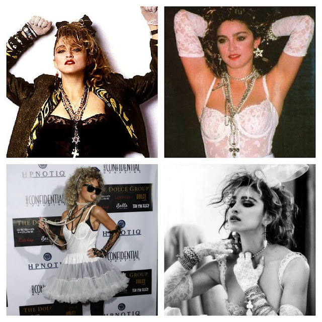 Madonna's 80's boy-toy/like-a-virgin look