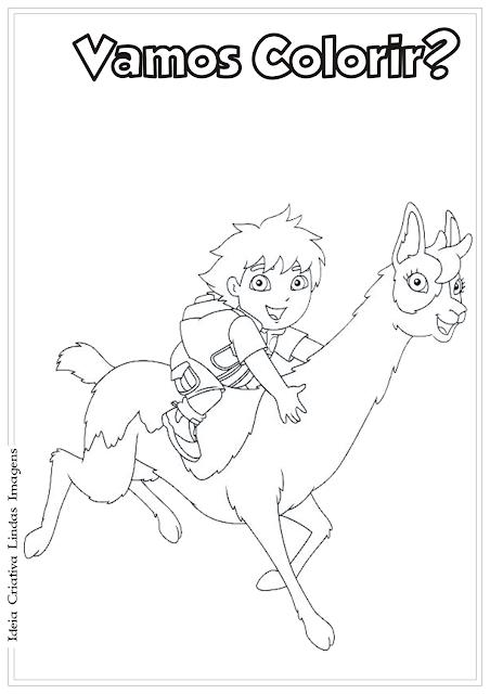 Go Diego Go! desenho para colorir