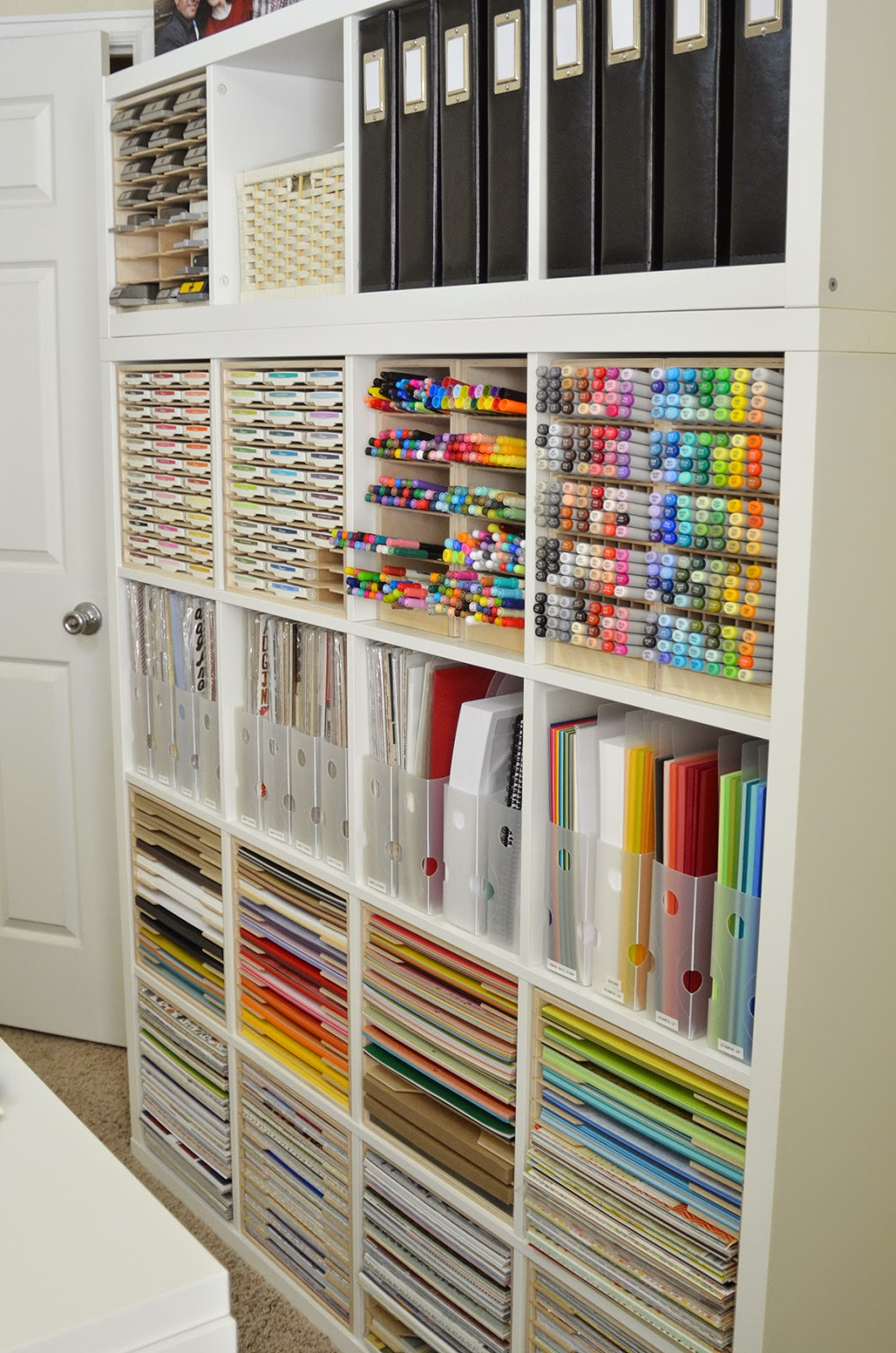 Jeanne 39 s paper crafts an update and a little re for Craft supplies organization ideas
