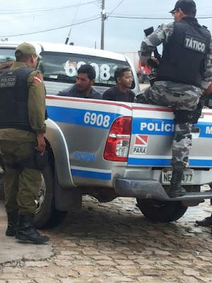 Polícia Militar prende em flagrante criminosos que assaltaram a Big Bem em São Miguel do Guamá.