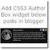 Add CSS3 Author Box widget below posts in Blogger