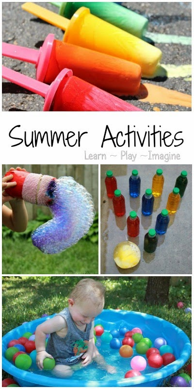 85+ summer activities for kids including art, water play, sensory activities and much more!