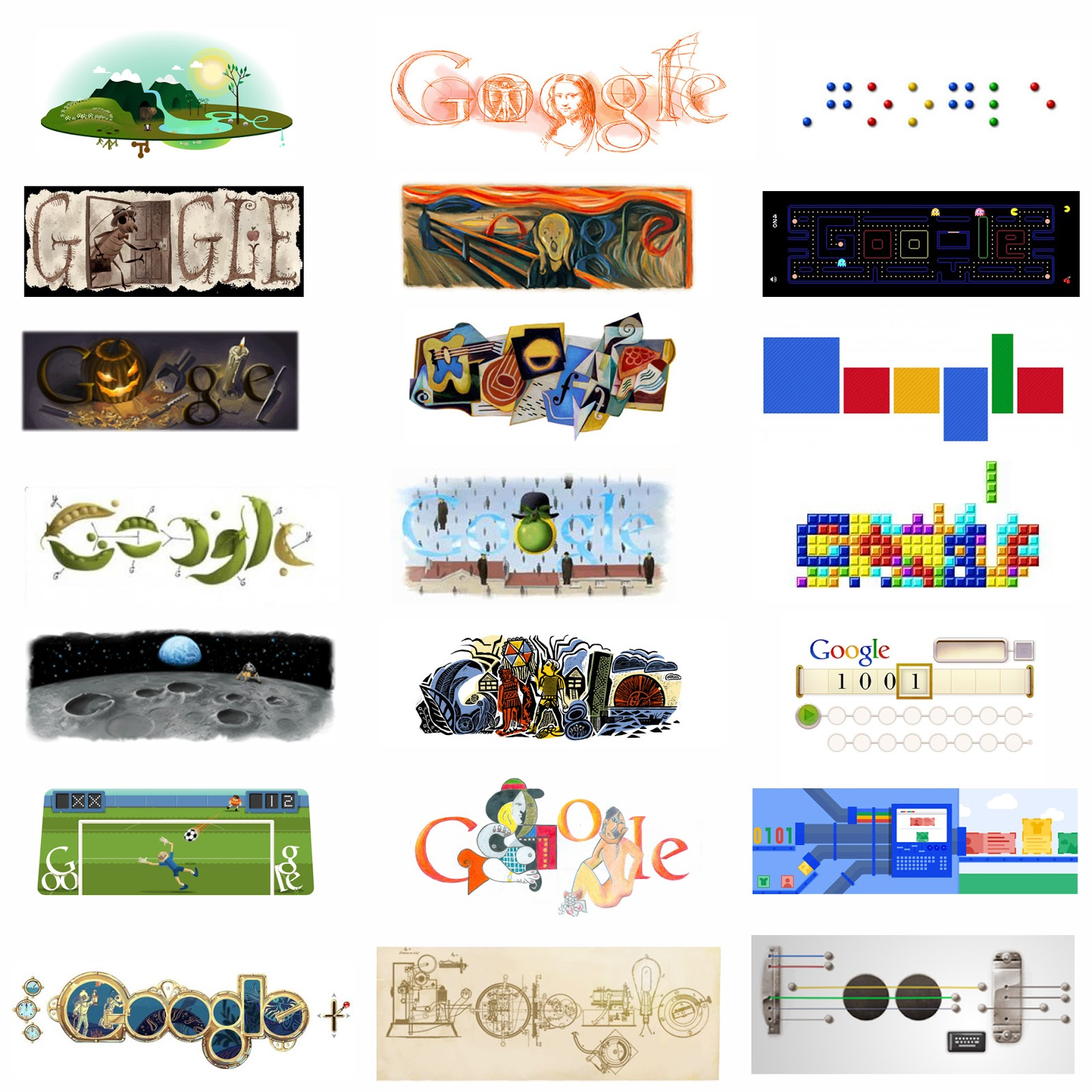 variaciones, cabecera google