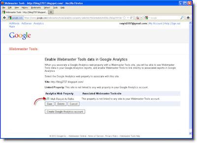 Mengasosiasikan Data Webamaster Tool kedalam Google Analytics