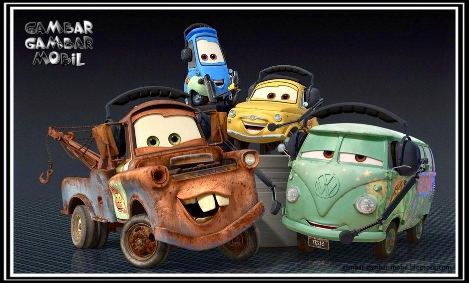 gambar kartun mobil truk
