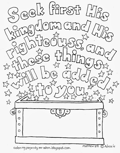 Matthew 6 33 Coloring Page