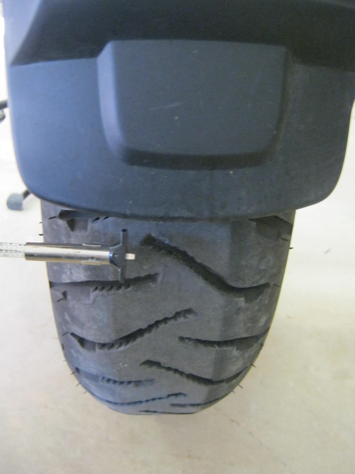 I Measured 6 32 45mm At The Center Of Tread On Front Tire There Is Hardly Any Noticeable Wear