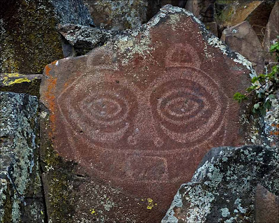 She Who Watches petroglyph. Tsagaglalal.