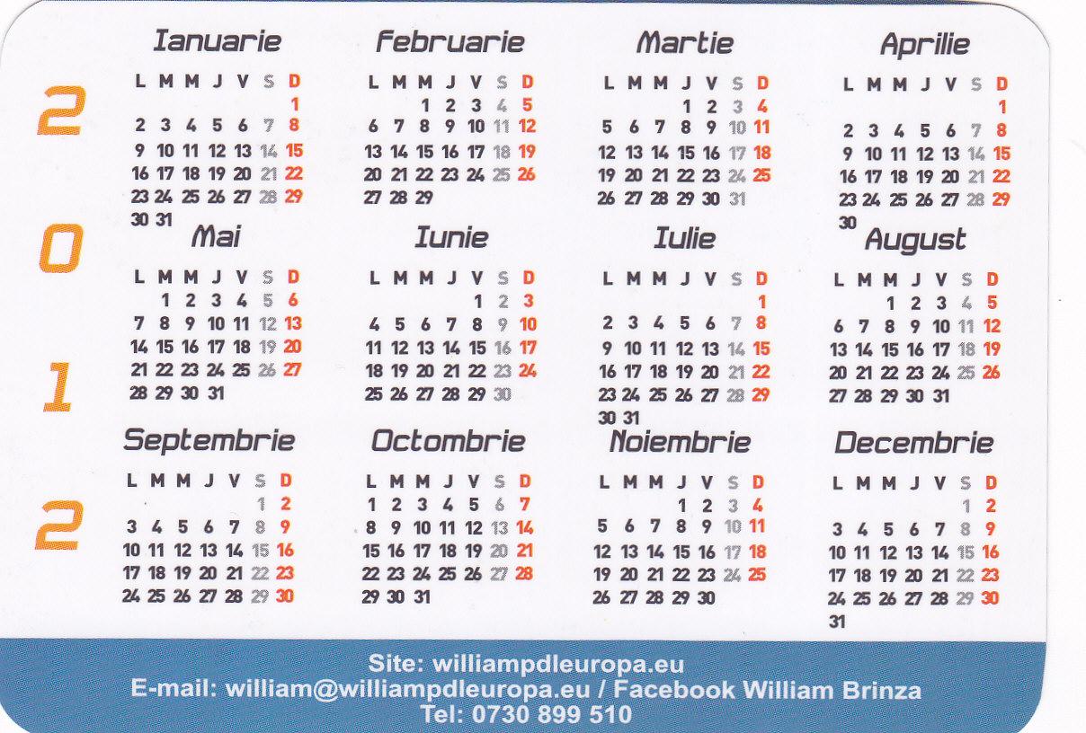 Calendars Romanesc 2016 | Calendar Template 2016