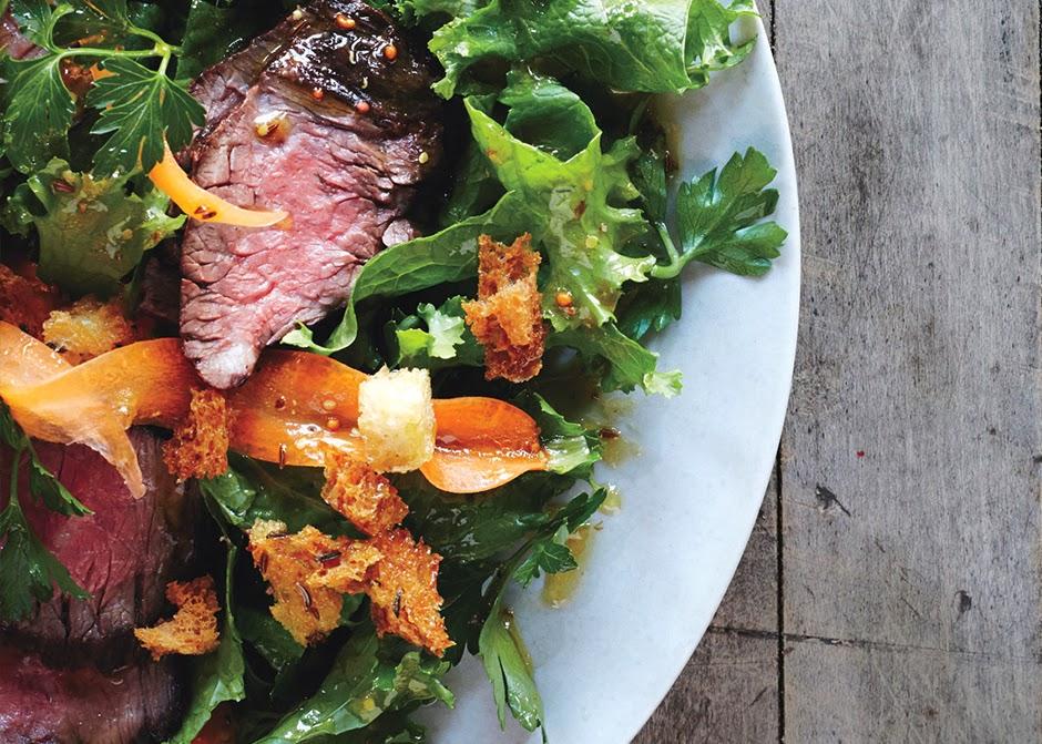 Steak-salad-caraway-vinaigrette