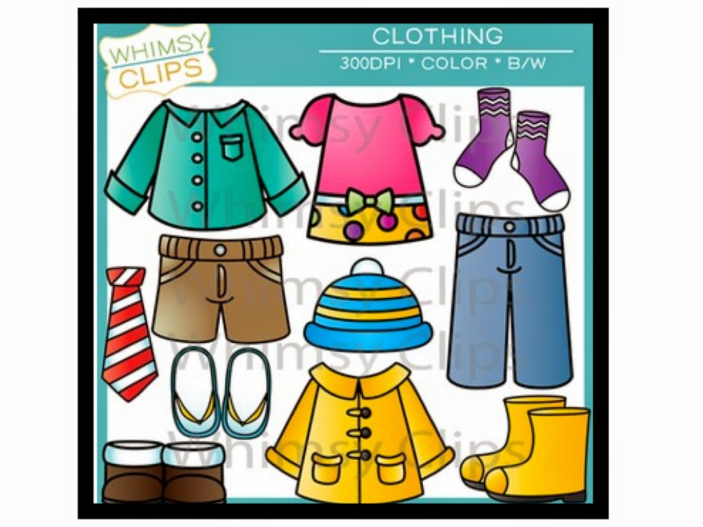 http://www.teacherspayteachers.com/Product/Clothing-Clip-Art-977495
