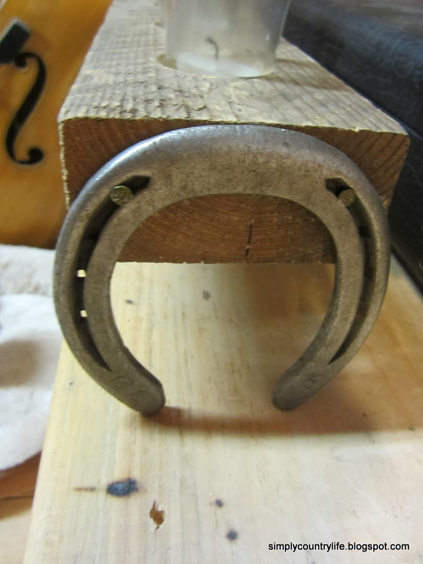 Horseshoes and a Chunk of Wood get a New Life