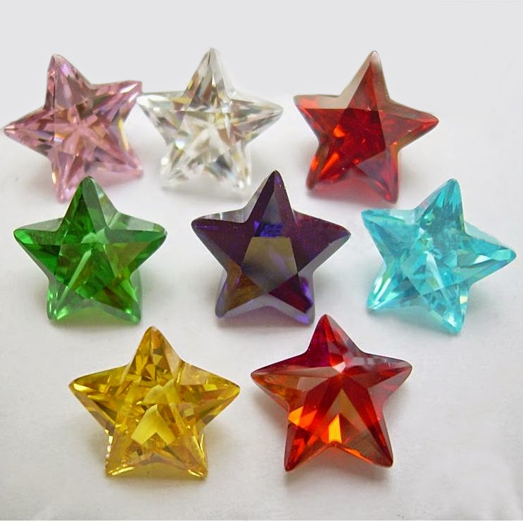 colored cubic zirconia star
