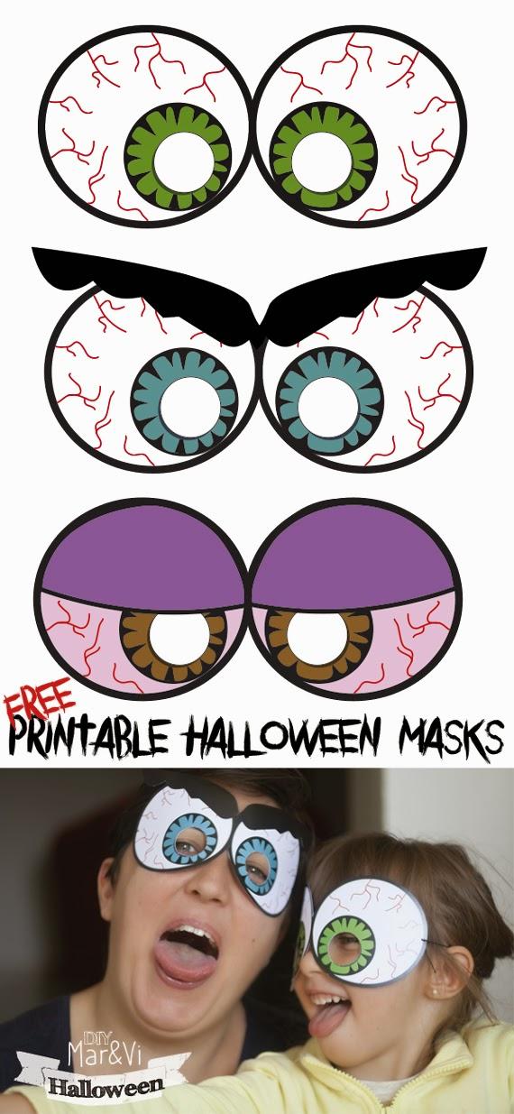 Maschere Halloween da stampare gratis