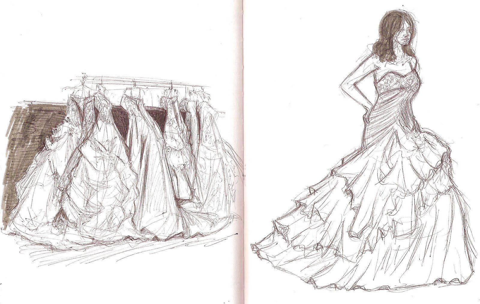 Wedding Dresses Drawings - Bridesmaid Dresses Sleeves