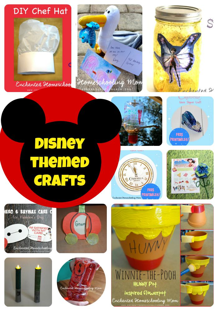 15 disney themed crafts as seen on enchanted homeschooling