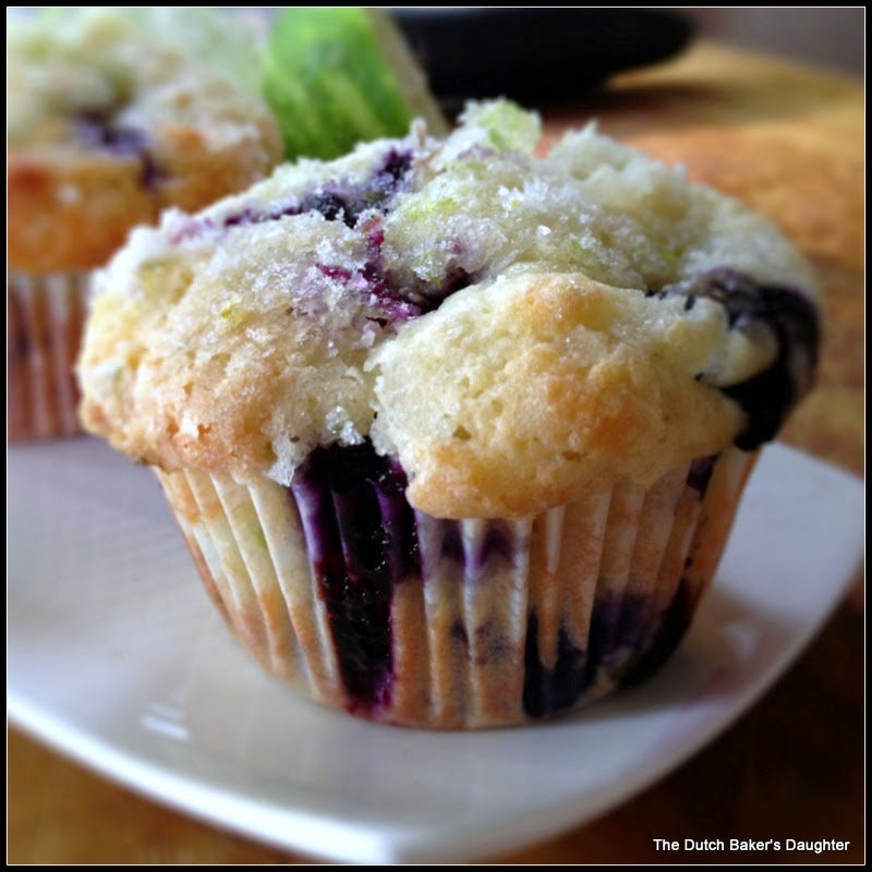 The Dutch Baker's Daughter: Lime and Coconut Blueberry Muffins