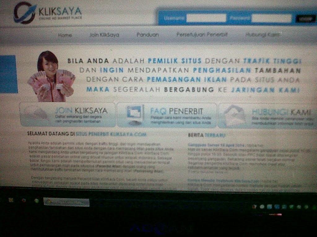 cara daftar kliksaya.com