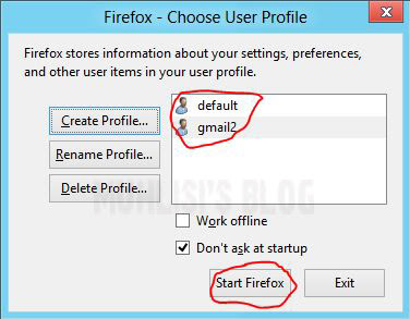 Klik Start Firefox Untuk Memulai