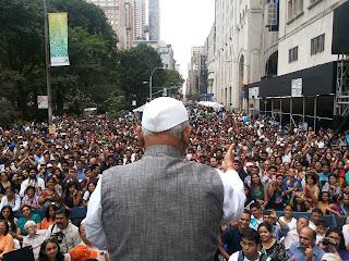 Anna Hazare at New York Gallery