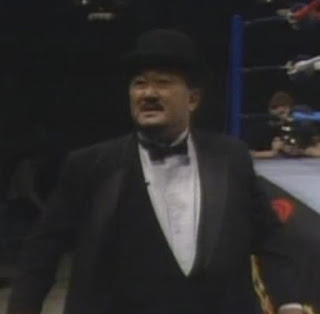 WWF / WWE WRESTLEMANIA 2 - 'The Sinister' Mr. Fuji backs Don Muraco