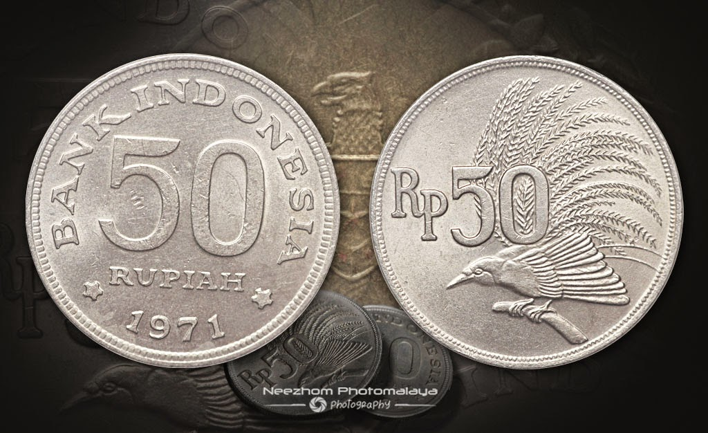 Indonesia coin 50 Rupiah 1971