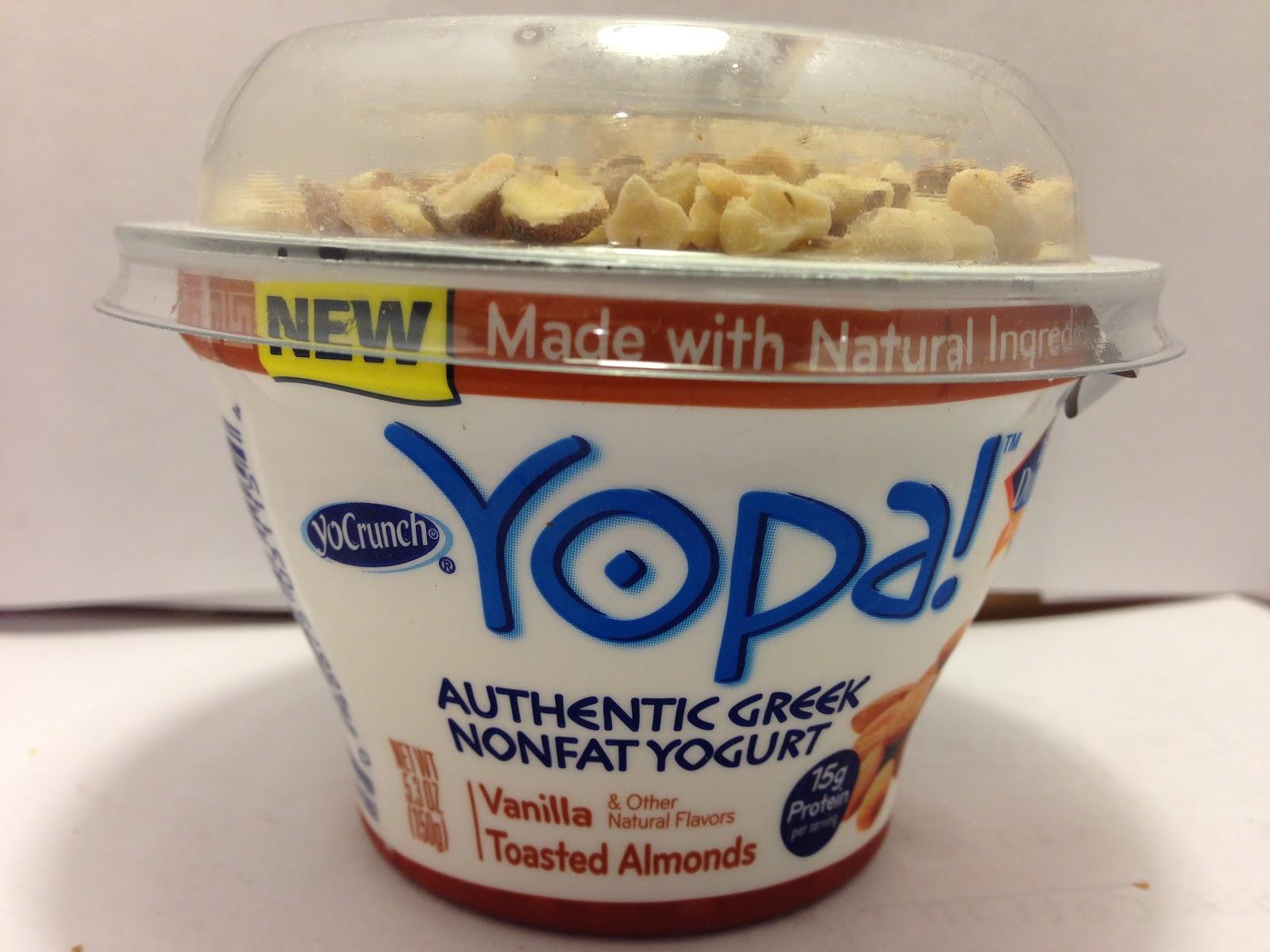 ... Food Dude: Review: YoCrunch Yopa! Vanilla Toasted Almonds Greek Yogurt