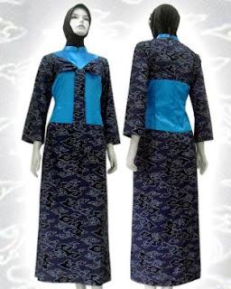 batik+muslim DRESS BATIK MODERN TREND 2013 TERBARU