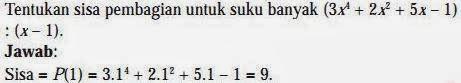 pembahasan soal matematika suku bnayak