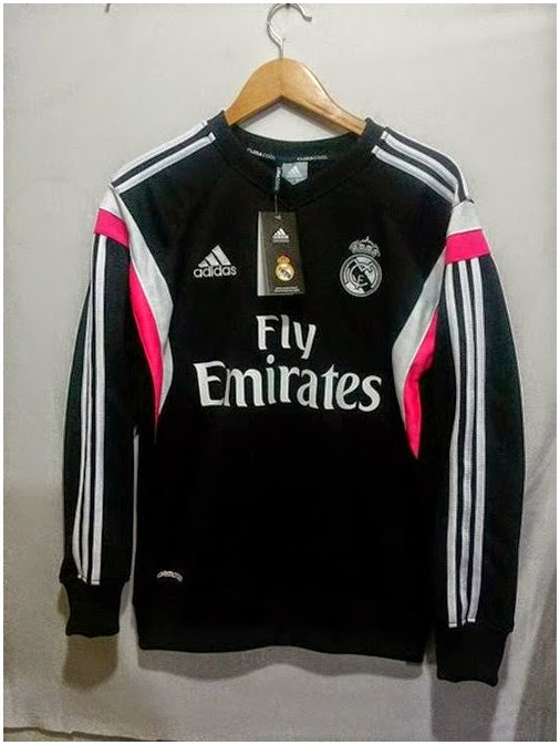 Grosir Jual Sweater Hoodie GO Real Madrid Produk Terbaru Hitam Pink 2015