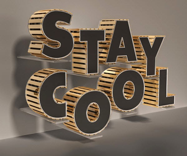 Create a Stylish Black and Gold 3D Text