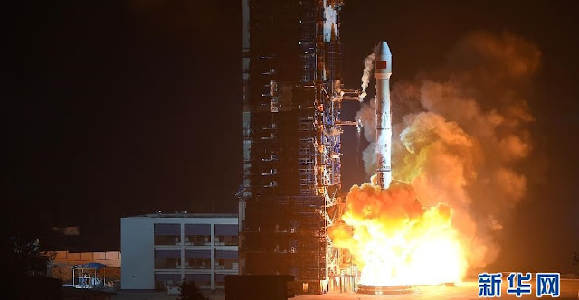 China launches Long March 3B rocket with ChinaSat-1C military communications satellite on Dec. 9, 2015. Photo Credit: Xinhua