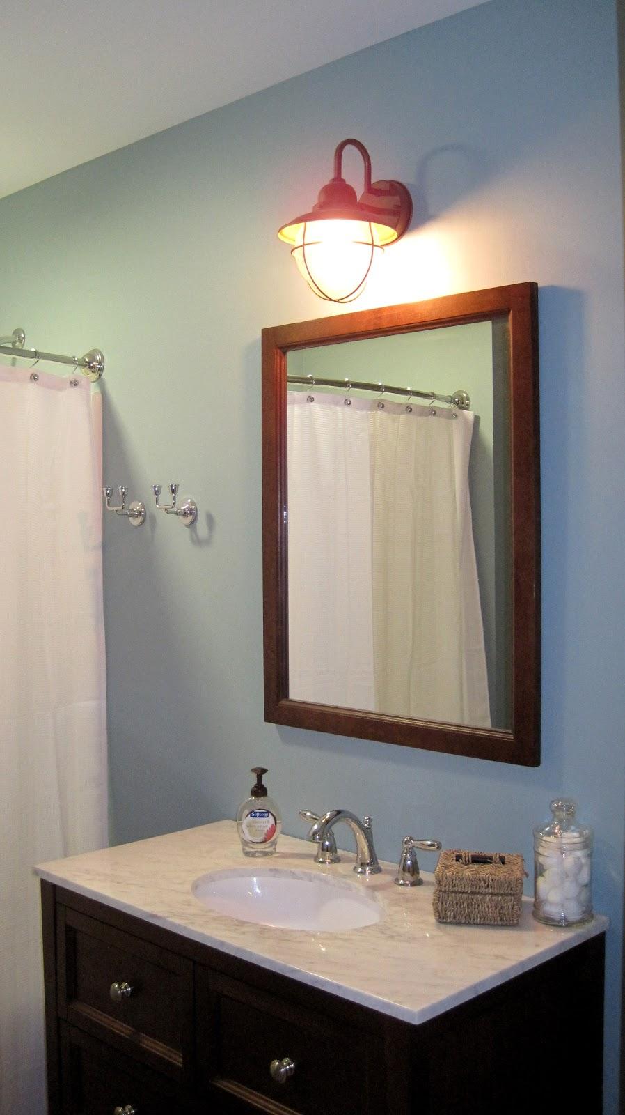 Beautiful Coastal Blue Guest Bathroom