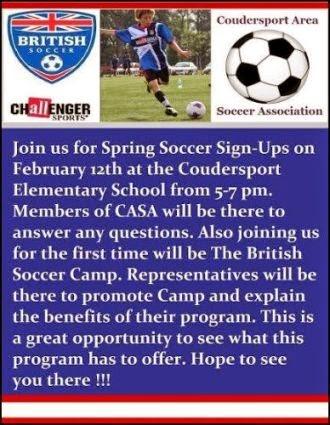 2-12 Spring Soccer Signups