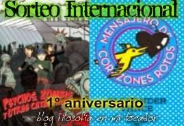 Sorteo INTENACIONAL libros/ 1° aniversario del blog