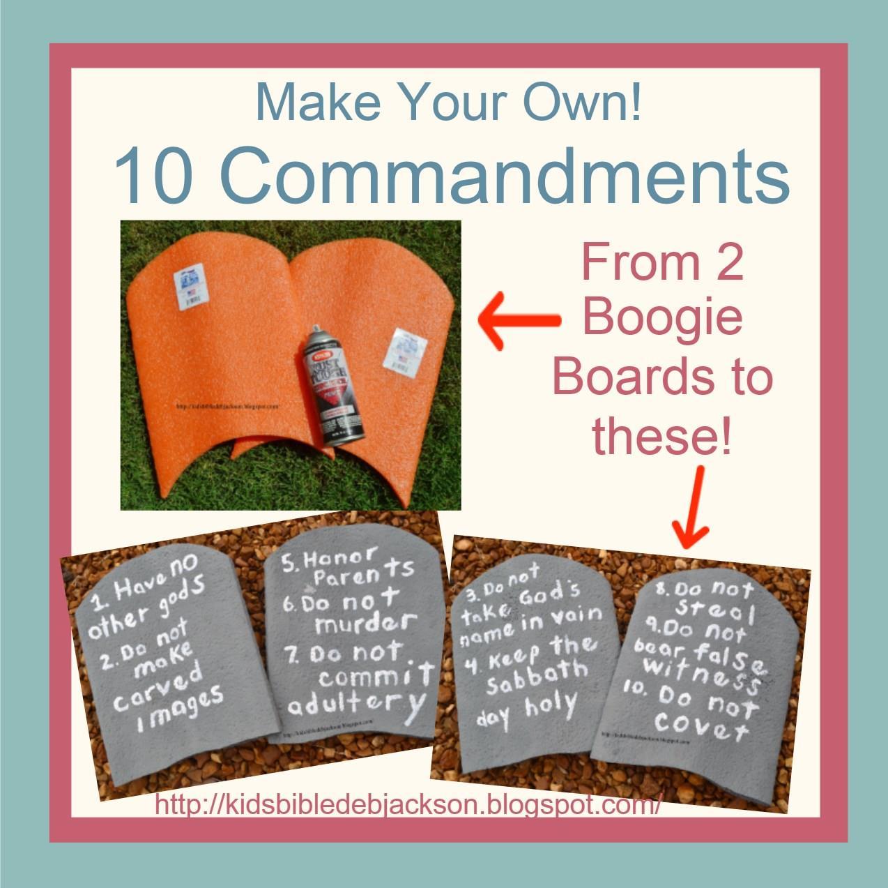 Make Your Own 10 Commandments Visual!