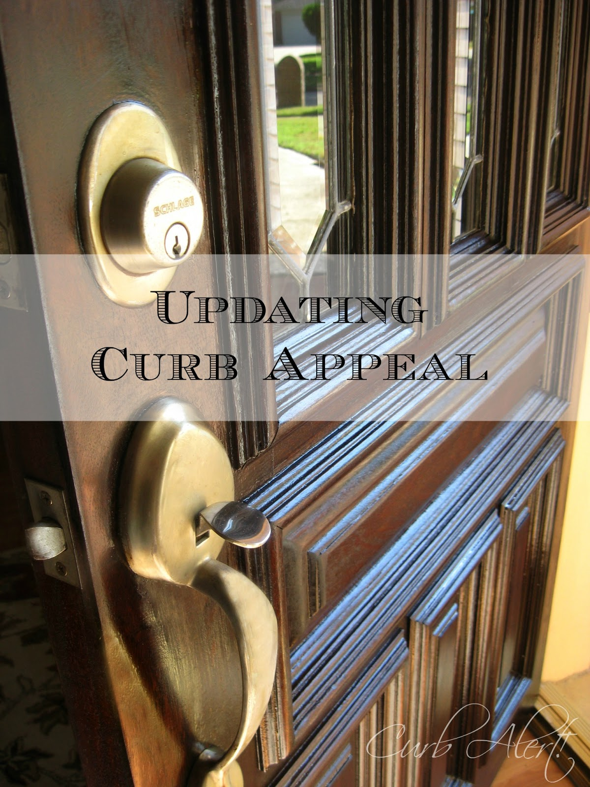 Curb Alert! : Updating your Home\'s Curb Appeal {Front Door Refinishing}
