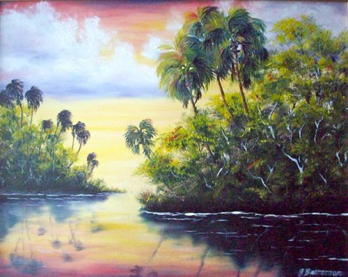 Daily Painters of Florida: Serene Sunset, Florida Oil ...