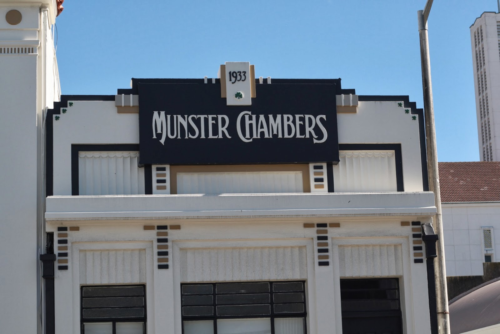 Munster Chambers art deco office Napier New Zealand.