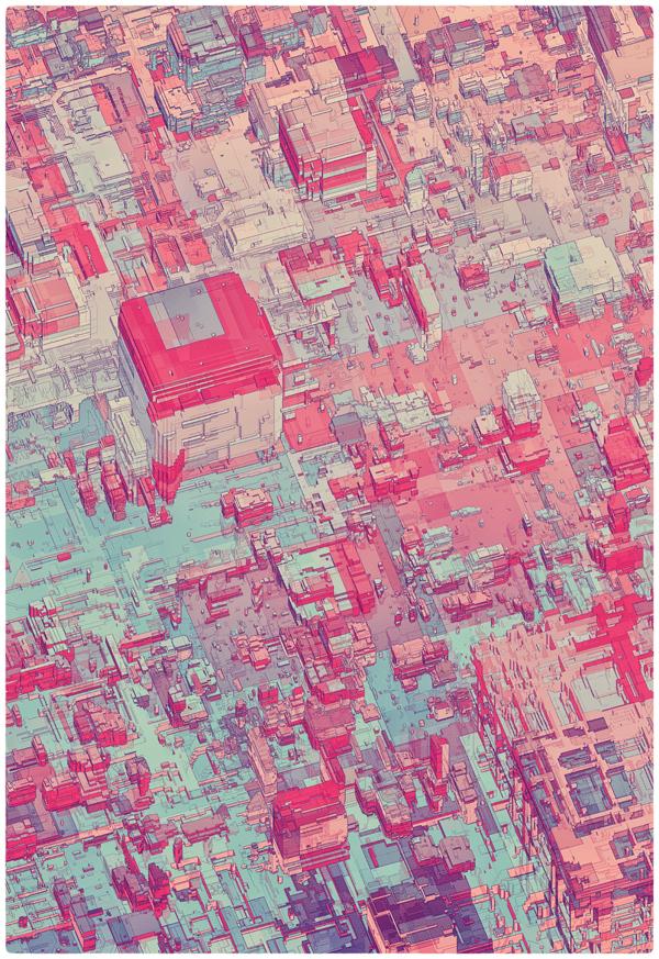 Atelier Olschinsky. Pixel City.Doctor Ojiplatico