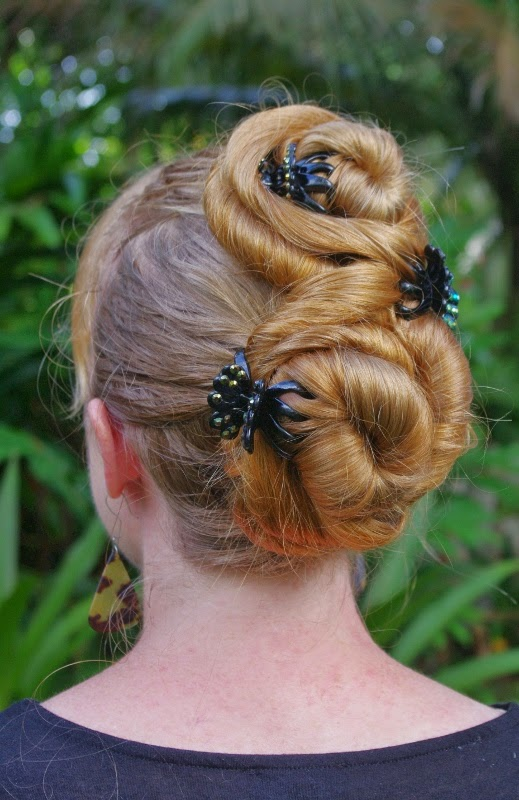Braids Hairstyles For Super Long Hair Figure 8 Buns