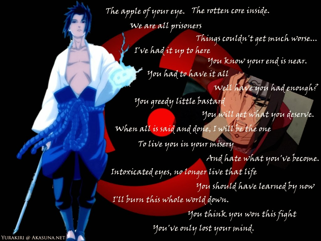 Itachi Love Quotes Naruto Quotes Wallpape...