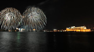 Fireworks in Valletta
