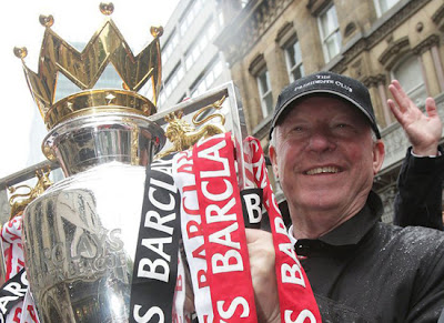 Sir Alex Ferguson Manchester United Champions Barclays Premier League Parade