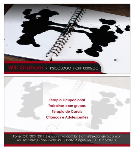 Cartao Psicologo 02 Frente e Verso - Cartões de Visita para Psicólogos