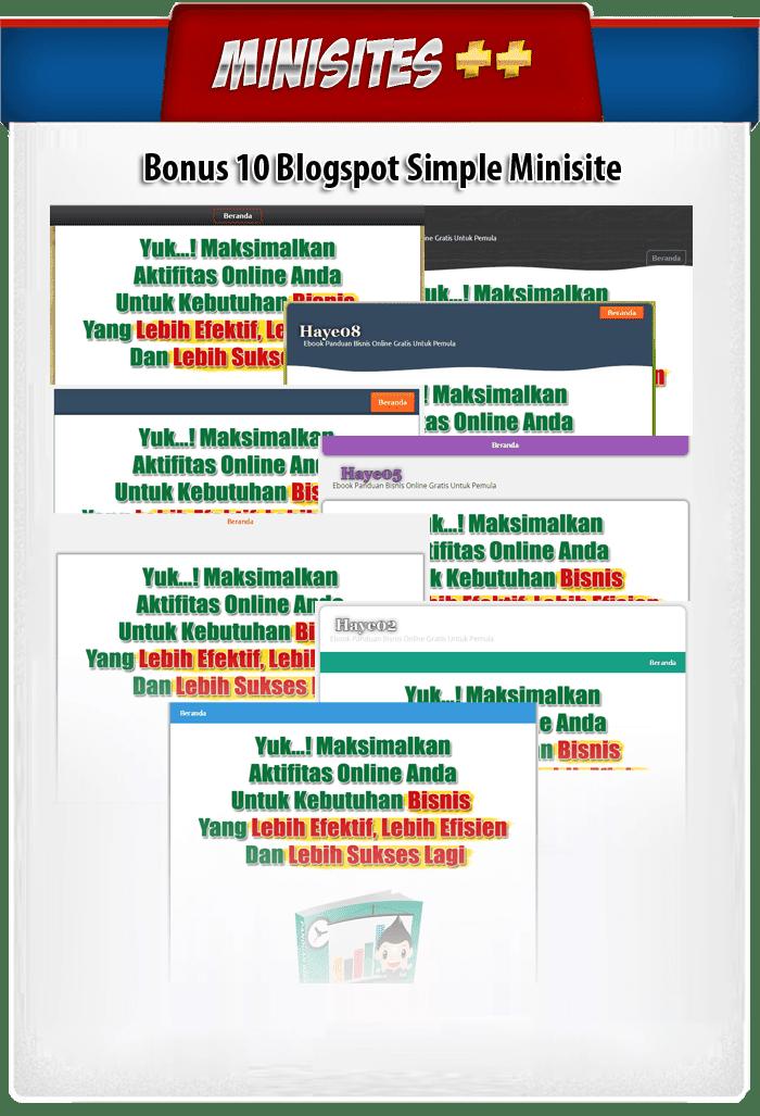 simple minisite blogger template